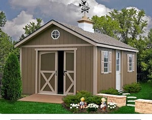 North Dakota 12'x12' Best Barns Wood Shed Barn Kit