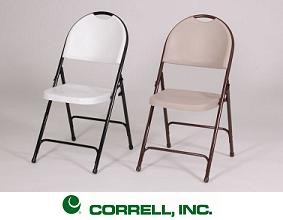 Correll Folding Chairs - RC350 Fan Shaped Back Chair 4 Pack