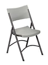 Correll Folding Chairs RC400 Gray Granite Plastic Folding Chair 4 Pack