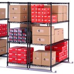 OFM X5 Storage Shelf Unit Sliding Shelving System 48 L X 24 W X 72 H