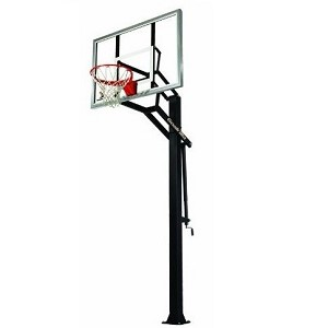 Goalrilla GLR GS III Basketball System 54 Inch Glass Backboard Goal