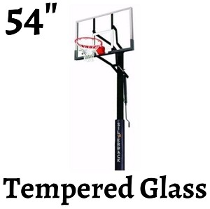 Silverback B5400W In-Ground Basketball System - 54 in. Glass Backboard