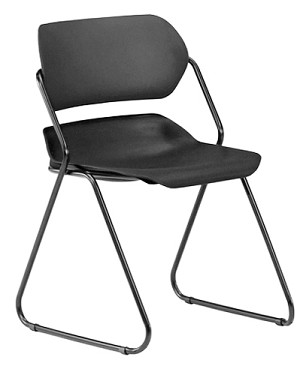 OFM Martisa Series 202 Plastic Stacking Chairs 4 Pack