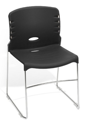 Ofm 320-P 4 Pack Plastic Stacking Chairs Office Stackable Chairs