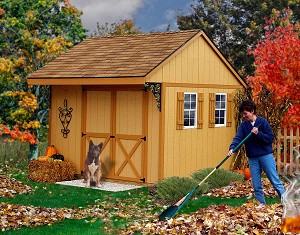 Northwood 10' Wooden Best Barns Storage Shed Barn Kit