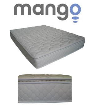SO Mango M2001-Queen Queen Size Pillow Top Mattress Wrap Steel Coils