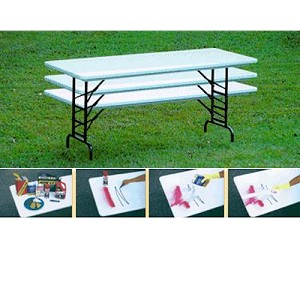 Ra3096 Correll 30X96 Adjustable Height Molded Plastic Folding Table